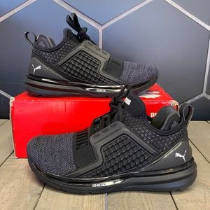 Junior Puma Ignite Limitless Knit JR Black Shoes